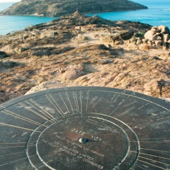 Cape York Tours | Directional dial on Lizard Island