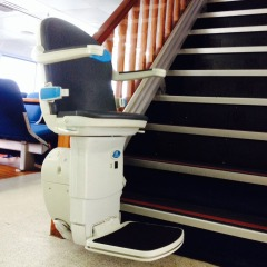 Disabled chair lift to take guests to next level of the boat