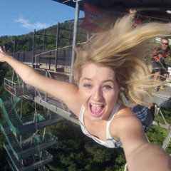 Do you think she is enjoying her bungy jump from Cairns?