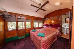 Double accommodation in Railway Carriages at Undara
