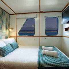 Double bed accommodation on luxury liveaboard dive trip Cairns