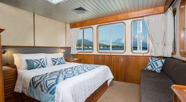 Double cabin accommodation on Great Barrier Reef Cruise