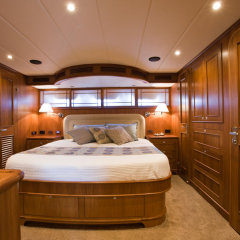 Double cabin on luxury Cairns charter boat