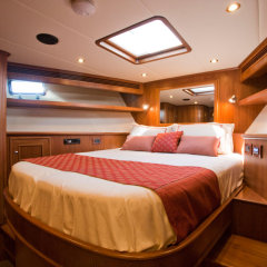 Double cabin with hatch on Cairns luxury private charter boat