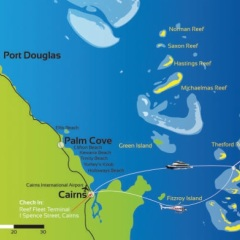 Dreamtime Dive & Snorkel | Your Great Barrier Reef Day Trip Map