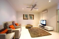 Each apartment features a Media Room - a great second living area!  Island Views Apartments Palm Cove
