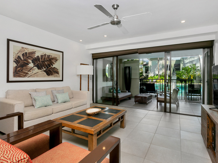 Each private holiday apartment features individual decore. Choose from 1, 2 or 3 Bedroom Apartment at Port Douglas Private Apartments within Sea Temple Resort