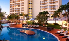 Enjoy a dip in the Roof top Swimming Pool & Spa at Pullman Cairns International Hotel