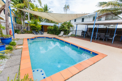 Enjoy a dip in your private swimming pool complete with BBQ area - Clifton Beach Holiday House