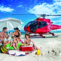 Enjoy a family picnic on a remote sand cay on the Great Barrier Reef in Australia