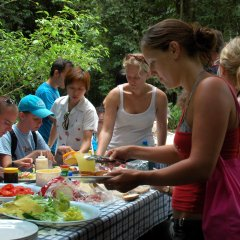 Enjoy a home made delicious lunch under the canopies of the rainforest