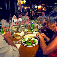 Enjoy a nice dinner together on the Atherton Tablelands