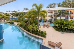 Enjoy a refreshing dip in one of the 6 swimming pools at Silkari Lagoons Port Douglas. (3 Heated in Winter) Port Douglas Accommodation