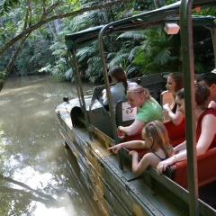 Enjoy a ride on the restored amphibious army duck at Rainforestation Nature Park