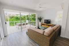 Enjoy Beach views from the Lounge - On the Beach Port Douglas Apartments