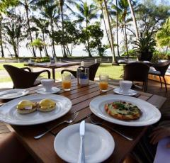 Enjoy Breakfast with Ocean Views over Palm Cove beach