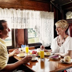 Lunch on the train on Kuranda Scenic Railway