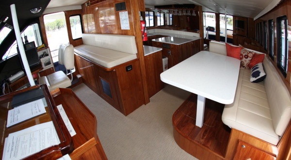 Enjoy luxury interiors | Private Charter Boat | Port Douglas | Great Barrier Reef | Australia