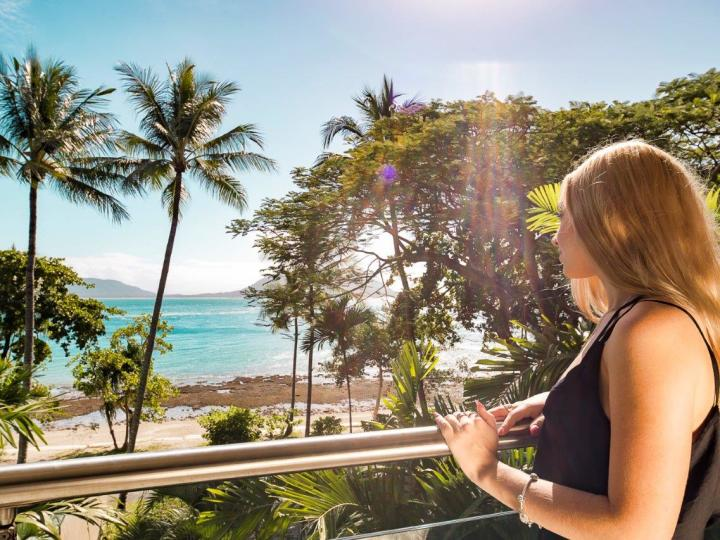 Enjoy ocean views from the Welcome Bay Suite on Fitzroy Island Resort