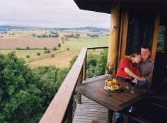 Enjoy scenic views from your private Treehouse at Mt Quincan Crater Retreat