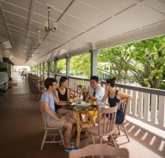 Enjoy the tropical balconies overlooking Cairns City Centre - Hides Hotel Cairns