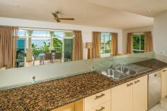 Enjoy views from the self contained Kitchen at Sea Change Beachfront Apartments