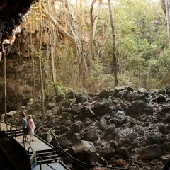 Entry to the Undara Lava Tubes