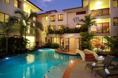 Evening by the Heated Swimming Pool - Meridian Apartments Port Douglas