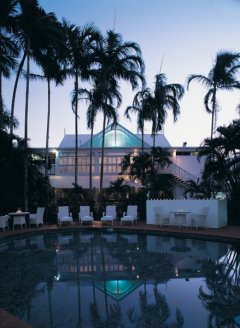 Evening View from the Pool at Hotel Cairns