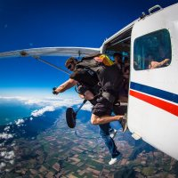 Exiting The Plane - Skydiving Combo Tour