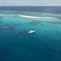 Experience a tropical sand cay on the Great Barrier Reef