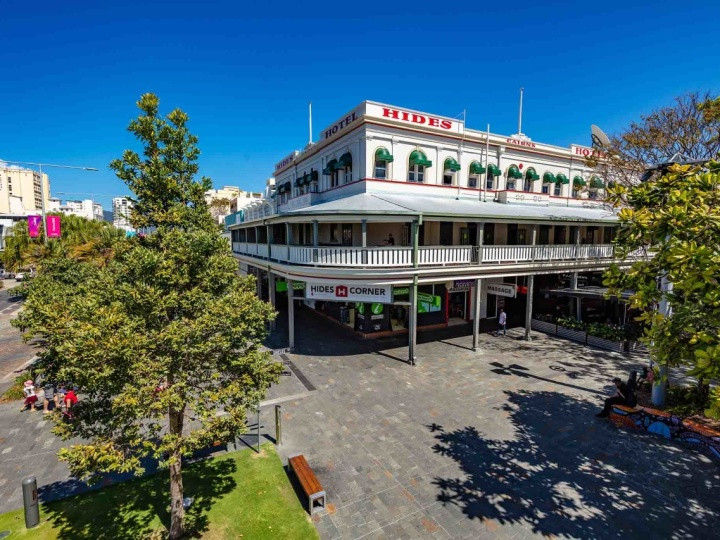 Exterior of Hides Hotel Cairns located in the heart of Cairns