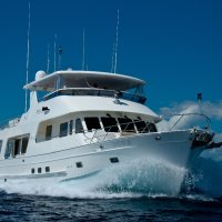 Exterior view MV-A Cairns luxury private charter boat