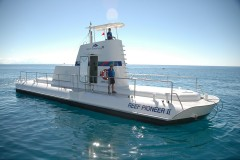 Exterior view of semi-submersible submarine on the Great Barrier Reef