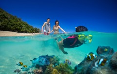 Family fun on the Great Barrier Reef