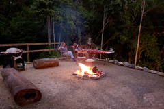 Fire Pit & Grill Cooking Area | Mungumby Lodge Cooktown Accommodation