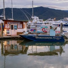 Fishing boat moored in Cairns