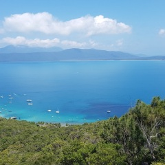 Fitzroy Island Lookout over the Grear Barrier Reef