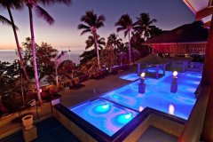 Fitzroy Island Resort Pool at dusk | Cairns Island Resorts