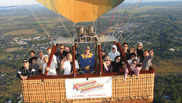 Flight photos available on hot air balloon flights