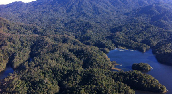 Fly over the mountains, lakes rivers & waterfalls in a helicopter from Cairns Queensland Australia