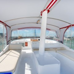 Flybridge of the Cairns private charter boat