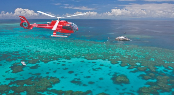 Fly/Cruise, Cruise/Fly and Helicopter Scenic Flight Over The Reef