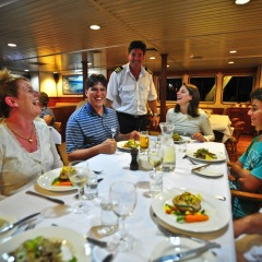 Dining room onboard your Great Barrier Reef Cruise Ship