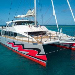 Front View of Brand New Cairns Reef Tour Vessel - Passions