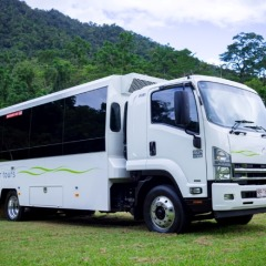 Our luxury purpose built overland vehicle for Cape Tribulation