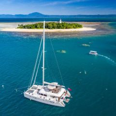 Aerial View of Luxury Charter Yacht - Full Day Low Isles Private Charter Snorkel Tour from Port Douglas