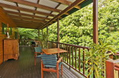 Full length verandah with tropical views - Daintree Deluxe B&B Accommodation