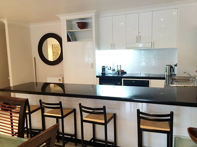 Fully Self Contained Kitchen at Alamanda Palm Cove Private Apartment