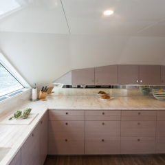 Galley of private charter Superyacht - Port Douglas - Great Barrier Reef